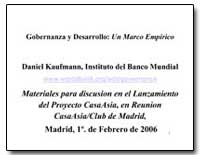 Gobernanza Y Desarrollo : Un Marco Empir... by Kaufmann, Daniel