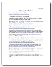 I. Governance, Public Economics and Corr... by Kaufmann, Daniel
