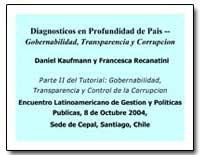 Diagnosticos en Profundidad de Pais Gobe... by Kaufmann, Daniel