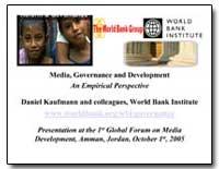 Media, Governance and Development an Emp... by Kaufmann, Daniel