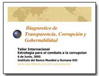 Diagnostico de Transparencia, Corrupcion... by The World Bank