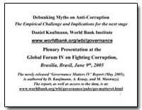 Debunking Myths on Anti-Corruption the E... by Kaufmann, Daniel