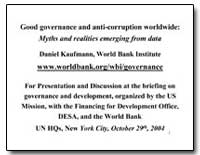 Good Governance and Anti-Corruption Worl... by Kaufmann, Daniel