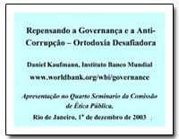 Repensando a Governanca E a Anti- Corrup... by Kaufmann, Daniel