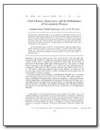 Civil Liberties, Democracy, And the Perf... by Isham, Jonathan