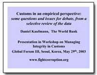 Customs in an Empirical Perspective : So... by Kaufmann, Daniel