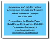 Governance and Anti-Corruption : Lessons... by Kaufmann, Daniel