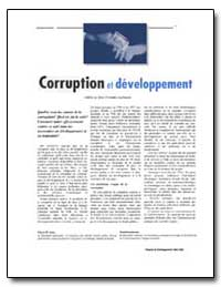 Corruption et Developpement by Gray, Cheryl W.