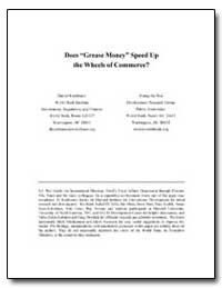 Does Grease Money Speed up the Wheels of... by Kaufmann, Daniel