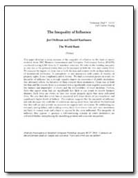 The Inequality of Influence by Hellman, Joel S.