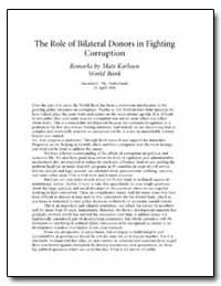 The Role of Bilateral Donors in Fighting... by Karlsson, Mats