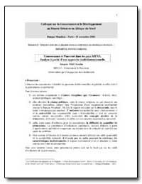 Colloque sur la Gouvernance et le Develo... by The World Bank