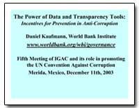 The Power of Data and Transparency Tools... by Kaufmann, Daniel