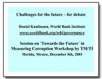 Challenges for the Future for Debate by Kaufmann, Daniel