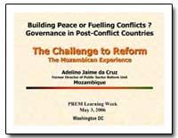 Building Peace or Fuelling Conflicts Gov... by Cruz, Adelino Jaime Jaime Da Da