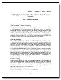 Fighting Systemic Corruption : Foundatio... by The World Bank