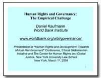 Human Rights and Governance : The Empiri... by Kaufmann, Daniel