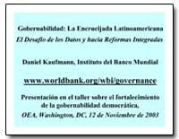 Gobernabilidad : La Encrucijada Latinoam... by Kaufmann, Daniel