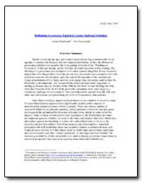 Rethinking Governance : Empirical Lesson... by Kaufmann, Daniel