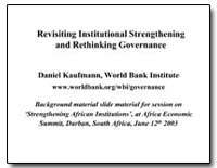 Revisiting Institutional Strengthening a... by Kaufmann, Daniel