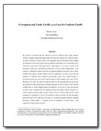 Corruption and Trade Tariffs, Or a Case ... by Gatti, Roberta