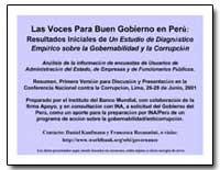 Las Voces para Buen Gobierno en Peru : R... by Kaufmann, Daniel