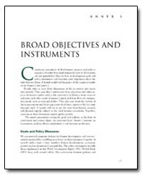 Broad Objectives and Instruments by The World Bank