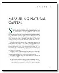 Measuring Natural Capital by The World Bank