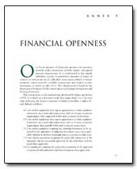 Financial Openness : Annex 5 by The World Bank