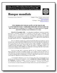 Banque Mondiale/Qualize de la Croissance by The World Bank