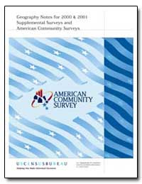 Geography Notes for 2000 and 2001 Supple... by U. S. Census Bureau Department