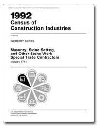 Masonry, Stone Setting, And Other Stone ... by Barram, David J.