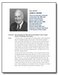 This Is an Interview Conducted on Decemb... by Keane, John G.