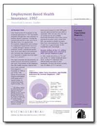 Employment-Based Health Insurance : 1997 by Bhandari, Shailesh