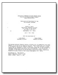 Administrative Data Study for the 1982 E... by Burns, Geneva A.