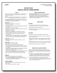 Instructions Annual Retail Trade Report by U. S. Census Bureau Department