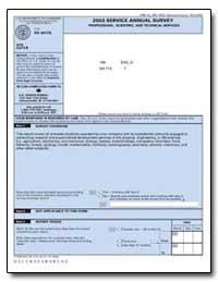 2003 Service Annual Survey Professional,... by U. S. Census Bureau Department