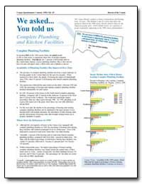 We Asked You Told Us: Complete Plumbing ... by U. S. Census Bureau Department