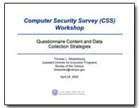 Computer Security Survey (Css) Workshop by U. S. Census Bureau Department