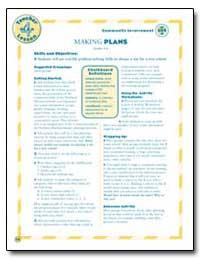 Making Plans by U. S. Census Bureau Department