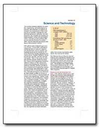 Science and Technology by U. S. Census Bureau Department