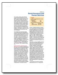Social Insurance and Human Services by U. S. Census Bureau Department