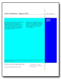 Glass Containers : August 2005 by U. S. Census Bureau Department