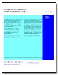 Mining Machinery and Mineral Processing ... by U. S. Census Bureau Department