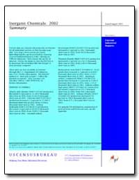 Inorganic Chemicals : 2002 by U. S. Census Bureau Department