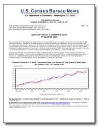 Quarterly Retail E-Commerce Sales 3Rd Qu... by U. S. Census Bureau Department