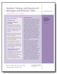 Number, Timing, And Duration of Marriage... by Kreider, Rose M.