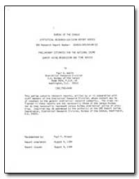 Preliminary Estimates for the National C... by Wakim, Paul G.