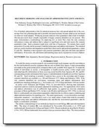 Recursive Merging and Analysis of Admini... by Scheuren, Fritz