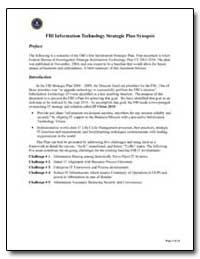 Fbi Information Technology Strategic Pla... by Federal Bureau of Investigation